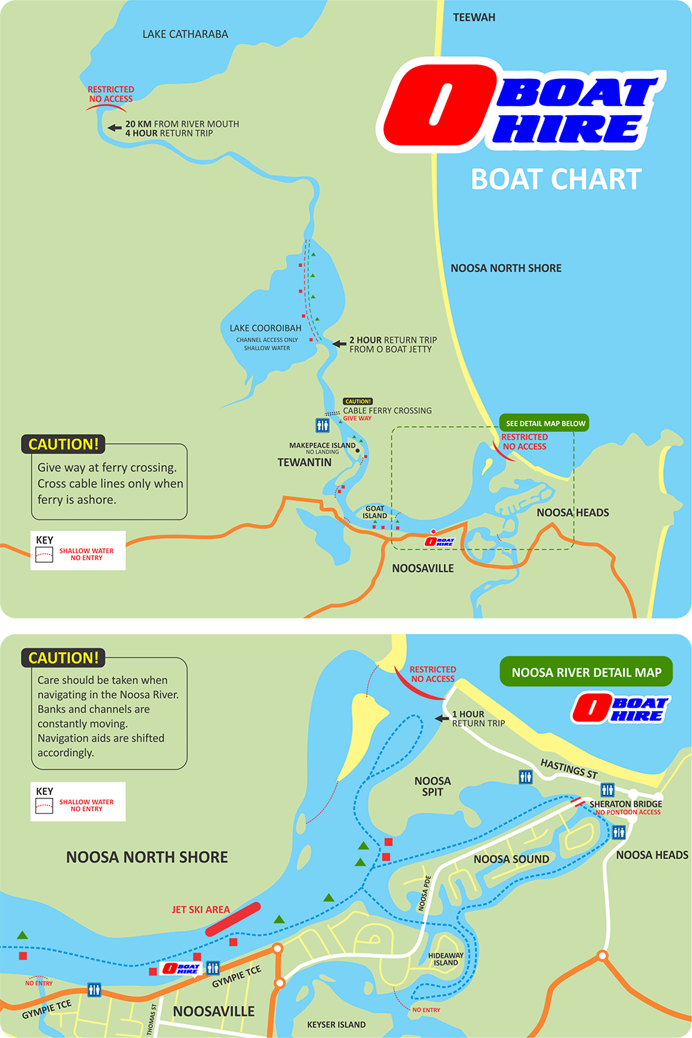 O Boat Hire Boat Chart