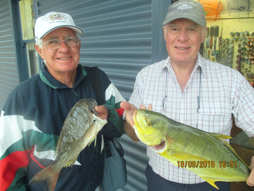 Barry and his mate pulled up these quality fish aboard the fishing crab adventure afternoon charter.